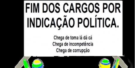 FIM DOS CARGOS POR INDICAÇÃO POLÍTICA