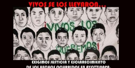 ENRIQUE PEÑA NIETO                                                         : Exigimos justicia y esclarecimiento de los hechos ocurridos en Ayotzinapa.