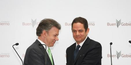 JUAN MANUEL SANTOS Presidente de Colombia y GERMAN VARGAS LLERAS : Reducir el impuesto de la salud a los pensionados de Colombia del 12% al 4%