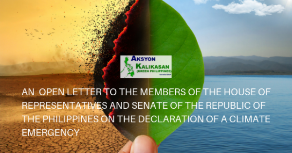 OPEN LETTER TO THE MEMBERS OF THE HOUSE OF REPRESENTATIVES AND SENATE OF THE PHILIPPINES