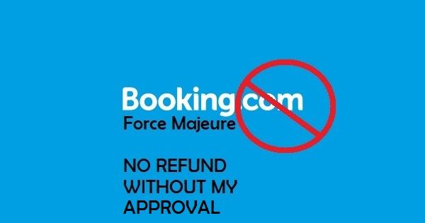 STOP Booking.com from enforcing hotels to provide refunds without our consent! COVID-19