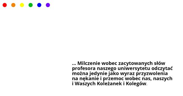 Homilia prof. dr hab UAM Marka Jędraszewskiego - reakcja społeczności UAM