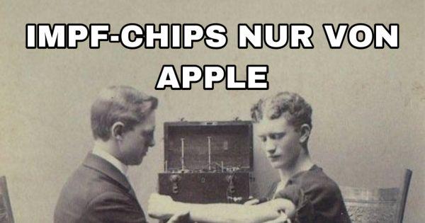 Corona-Impfstoff nur Microchips von Apple