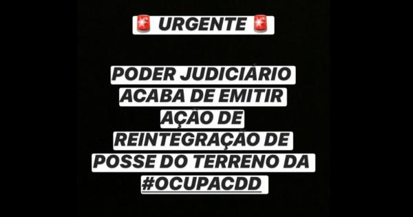 #ResisteCDD - Diga NÃO à remoção das famílias da Ocupação em Sete Lagoas/MG