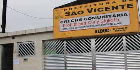 "Prefeitura Municipal de São Vicente: Repasse a verba do FUNDEB para a creche ""Olinda Cury Gigliotti""."