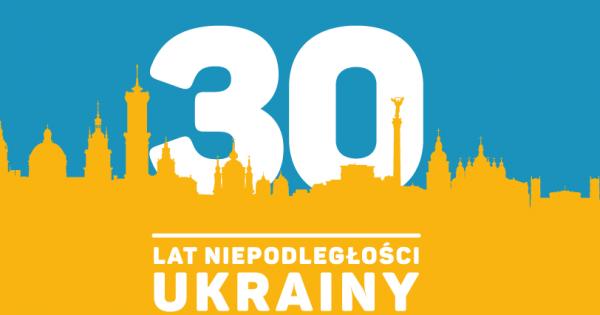 Życzenia z okazji 30 rocznicy Niepodległości Ukrainy