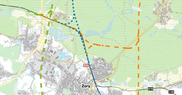 NIE ZGADZAMY się na budowę linii kolejowej wg programu CPK przez MIASTO ŻORY