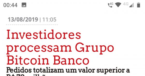 Apelo ao Ministério Público que Investigue o Grupo Bitcoin Banco, Negociecoins, TemBtc.