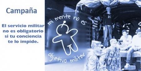 No al servicio militar obligatorio en Colombia