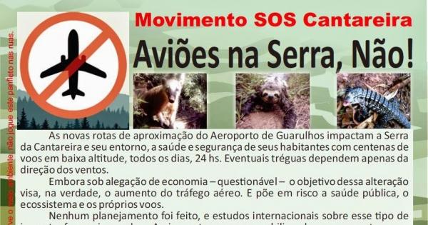 #DECEA ,#ANAC; Instituto #Florestal do Governo Estado São Paulo; #GRUairpor: Proibir Rotas Avião sobre Serra da Cantarei