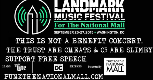 Dear  Wale, Ex Hex, Chef Jose Andres (Jaleo), Dan Deacon, U.S. Royalty: Please don't participate or attend the Landmark Music Festival, DC