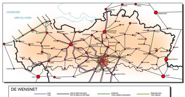 Un tramway reliant Alost à Bruxelles