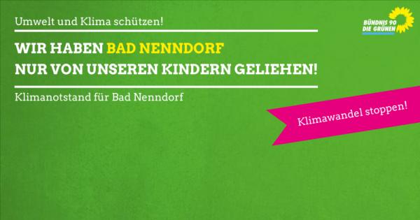 Klimanotstand für Bad Nenndorf ausrufen - Klima und Umwelt schützen!