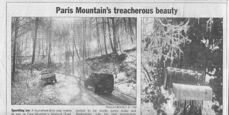 Help prevent the rezoning              of Paris Mountain