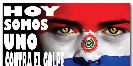 No al golpe de estado en Paraguay.