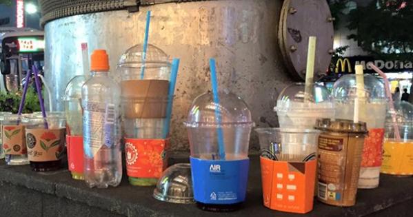일회용 컵 보증금 제도의 부활과 컵 소재 단일화를 요구합니다!