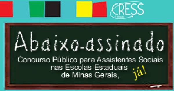 Reivindicação para abertura de Concurso público para assistentes sociais nas Escolas Estaduais de Minas Gerais