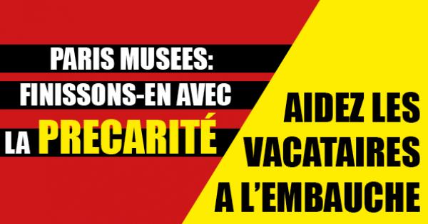 Contrats à Paris Musées : en finir avec la précarité de l'emploi