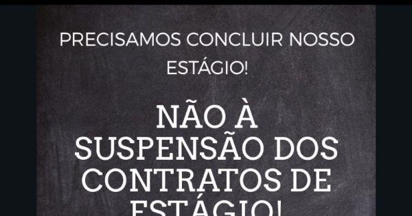Não à suspensão do Contrato dos Estagiários de São Roque! Nós precisamos estudar!