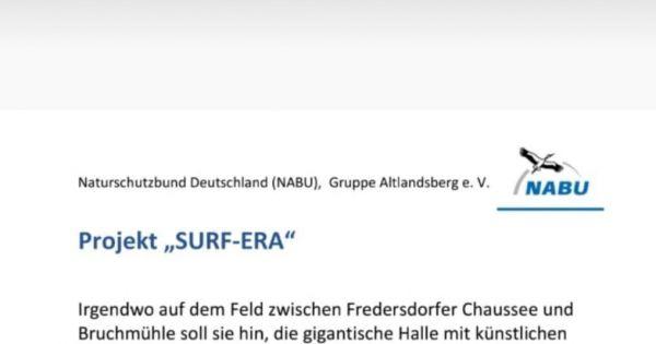 """Keine Freigabe für die """"SURF-ERA""""!!!"""