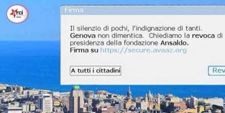 Il silenzio di pochi, l'indignazione di tanti. Genova non dimentica.: Chiediamo la revoca di De Gennaro dalla presi