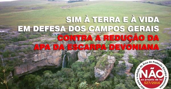 Assembleia Legislativa do Paraná: Queremos que o projeto 527/2016 seja rejeitado e arquivado.