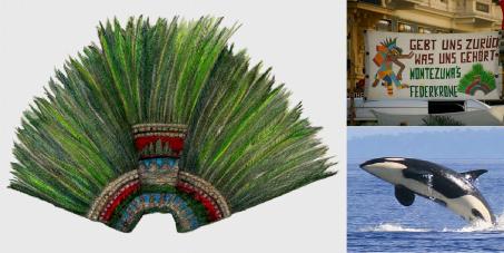 ¡La sagrada corona de Moctezuma es nuestra! Pedimos la devolución de lo que POR HERERIDAD... NOS PERTENECE!