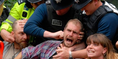 An End To Police Aggression When Arresting Peaceful Protesters