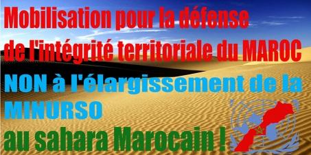 STOP Aux Provocations et Insulte de l'ALGERIE et NON à l'élargissement de la MINURSO au sahara Marocain !