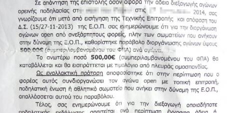 Ελληνική Ομοσπονδία Ποδηλασίας: Να σταματήσει το παράβολο των €500 για τους Open αγώνες ποδηλασίας