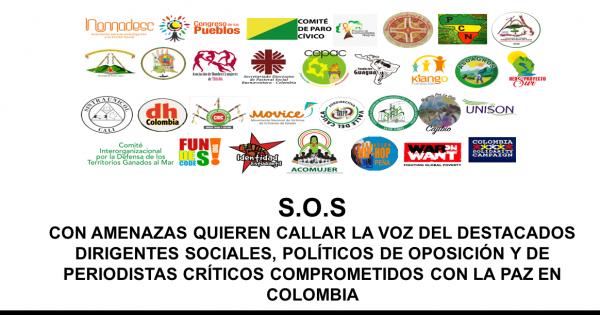 CON AMENAZAS QUIEREN CALLAR LA VOZ DE DESTACADOS DIRIGENTES DE OPOSICIÓN EN COLOMBIA