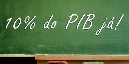 10% do PIB e 50% do Fundo Social do Pré-Sal para a educação brasileira