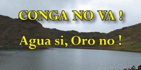 No al proyecto minero Conga en Cajamarca