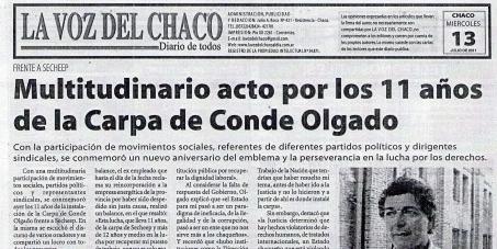 Petición a O.I.T., trate CASO MIGUEL BENITO CONDE OLGADO, expida resolución/ recomendación al Gobierno República Argentina restitución puesto trabajo en empresa de energía del Chaco S.E.CH.E.E.P