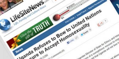 LifeSiteNews, stop promoting organizations that stir up anti-gay hatred in Africa.