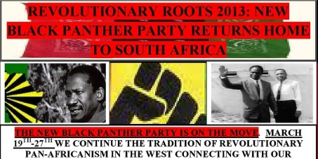 "Stop the hate group ""New Black Panther Party"" from coming to South Africa!"