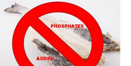 Do not approve added phosphates in salted Cod products