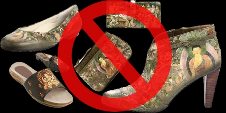 Stop using Buddha's image on shoes