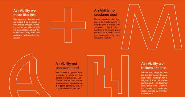 A chi crede nella forza inclusiva della STAMPA 3D. Il +MANIFESTO di +ABILITY. Designed by everybody for everybody