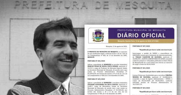 CONTRA AS DEMISSÕES DOS SERVIDORES MARCOS CESAR E VIVIANNE PELA PREFEITURA DE MESQUITA.