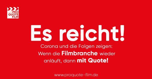 Pro Quote Film fordert: Wenn die Filmbranche wieder anläuft, dann mit Quote!