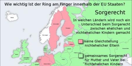 Gleichstellung im gemeinsamen Sorgerecht für nicht verheiratete Väter bei der Kindererziehung in ganz Europa!!!