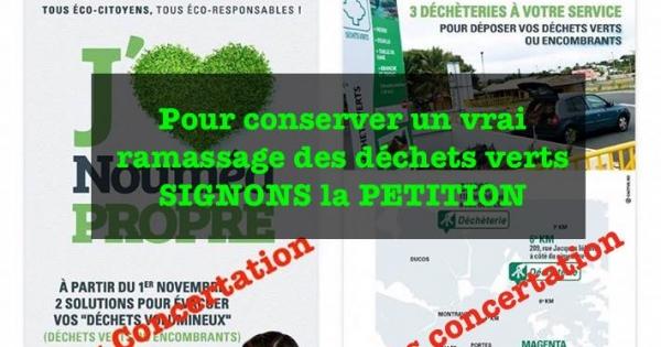 Madame le maire de Nouméa: Conservons un vrai ramassage efficace des déchets verts à Nouméa
