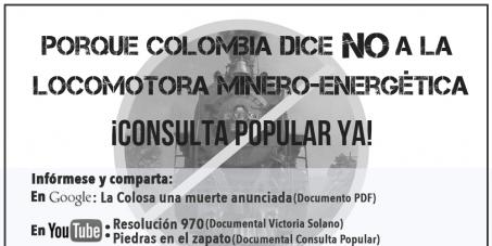 Presidente de la República de Colombia, Dr. Juan Manuel Santos Calderón: Suspensión de la Locomotora Minero-Energética.