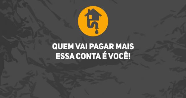 Contra a Concessão do serviço de esgoto no Mato Grosso do Sul para o setor privado