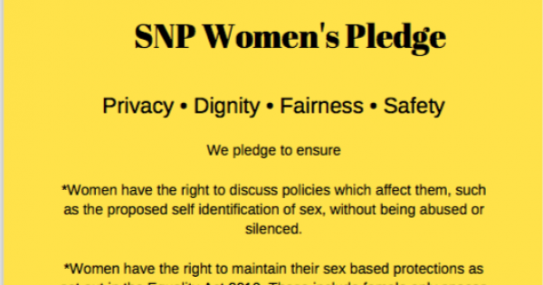 More than 3200 sign the SNP Women's Pledge