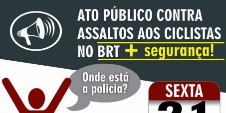 Secretarias de segurança pública do estado do Pará e município de Belém: Segurança contra assalto a ciclistas no BRT