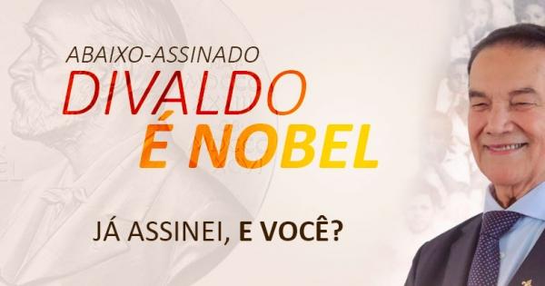 Divaldo é Nobel: Pessoas que desejam a PAZ.