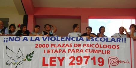 Exigimos el cumplimiento de la Ley 29719 en el Perú