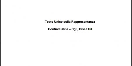 Presidente della Repubblica: ABOLIRE IL TESTO UNICO SULLA RAPPRESENTANZA SINDACALE